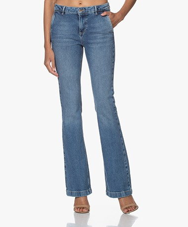 by-bar Leila NRX Flared Jeans - Light Denim