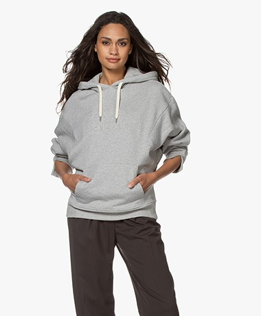 Les Coyotes de Paris Aiden Logo Hooded Sweater - Grey Melange