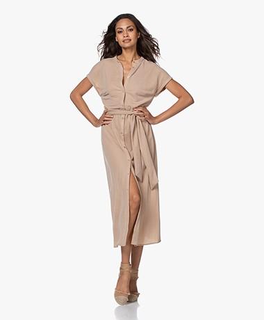 Plein Publique La Calme Button-through Dress - Sand