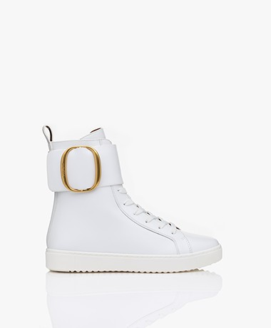 See By Chloé High-Top Leren Sneakers - Wit