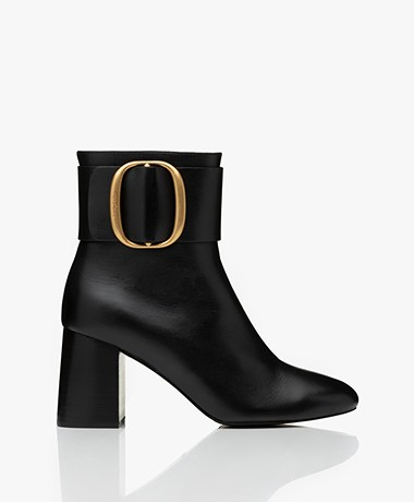 See By Chloé Abby Bowy Leather Ankle Boots - Black