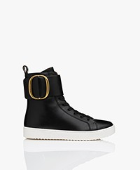 See By Chloé High-Top Leren Sneakers - Zwart