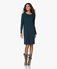 Sibin/Linnebjerg Ella Merino Sweater Dress - Solid Petrol