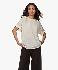 IRO Terzo Cashmere Mix T-shirt - Ecru