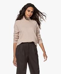 LaSalle Pure Cashmere Turtleneck Sweater - Cipria