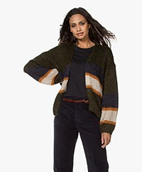 by-bar Florin Open Mohair Blend Cardigan - Forest Night