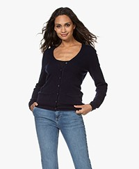 Repeat Cashmere Klassiek Vest - Navy