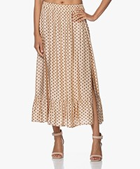 Plein Publique La Reve Viscose Polkadot Skirt - Blush/Brown