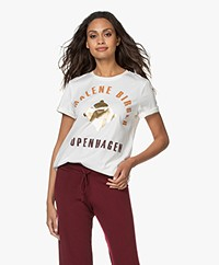 By Malene Birger Desmos Print T-shirt - Off-white/Goud