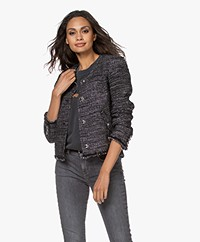 IRO Shakes Short Blazer with Lurex - Black/Silver
