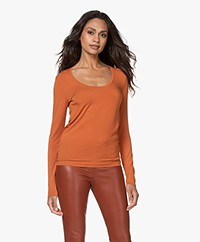 Majestic Filatures Soft Touch Jersey Long Sleeve - Clay