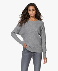 Repeat Knitted Wool and Cashmere Sweater - Light Grey
