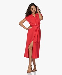 Plein Publique La Calme Button-through Dress - Red