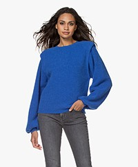 Les Coyotes de Paris Camille Shoulder Padded Sweater - Lapiz Blue
