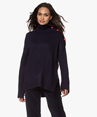 Zadig & Voltaire Alma Cashmere Turtleneck Sweater - Ink Blue