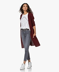 Sibin/Linnebjerg Mary Merino Blend Open Cardigan - Burgundy