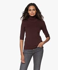 Filippa K Merino Elbow Sleeve Sweater - Maroon