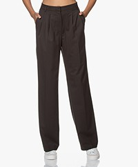 Les Coyotes de Paris Chloe Wool Blend Pants - Dark Brown