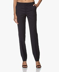 Filippa K Nicky Cool Wool Pantalon - Donker Navy