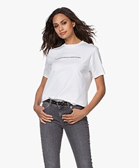 Les Coyotes de Paris Melia Cotton Print T-shirt - White