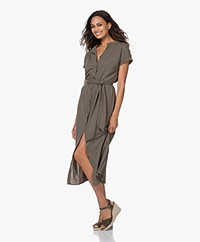 Plein Publique La Calme Button-through Dress - Army