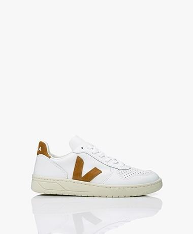 Veja V-10 Leather Sneakers - Extra White/Camel