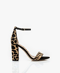 Sam Edelman Yaro Safari Zebra Heeled Sandals - New Nude
