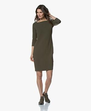 Kyra & Ko Bells Crepe Jersey Dress - Army
