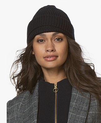Filippa K Rib Hat - Navy