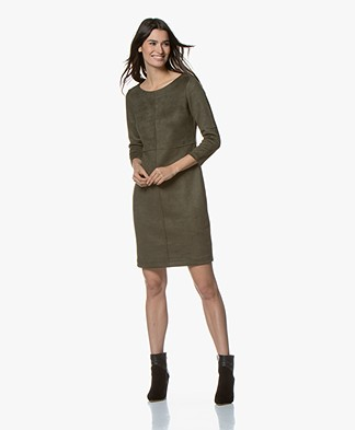 Kyra & Ko Aaf Suèdine Dress - Army
