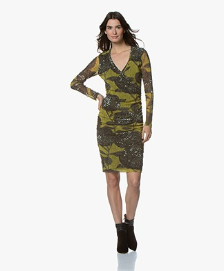 Kyra & Ko Cyril Dress with Floral Print - Lime