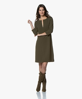 Kyra & Ko Grape Crepe Jersey Dress - Army