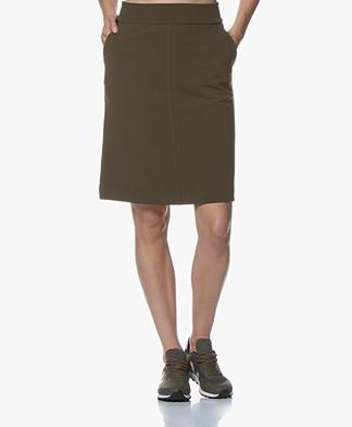 Kyra & Ko Ilvy Crepe Jersey Skirt - Army