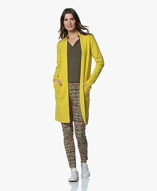Kyra & Ko Annelot Mid-length Open Cardigan - Lime