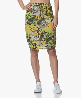 Kyra & Ko Kiek Fine Knit Floral Skirt - Lime