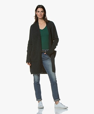 Drykorn Jeyla Long Open Cardigan - Dark Green