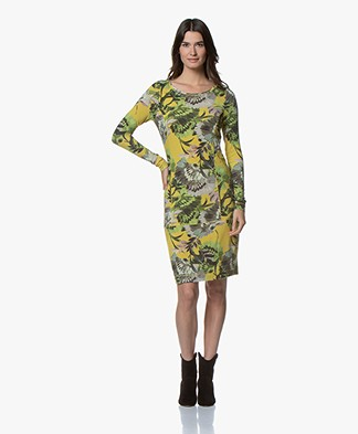 Kyra & Ko Jayla Fine Knit Floral Dress - Lime