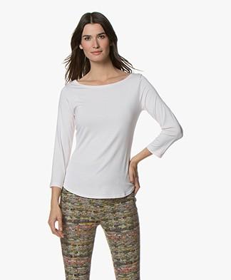 no man's land Cropped Sleeve T-shirt - Rosa