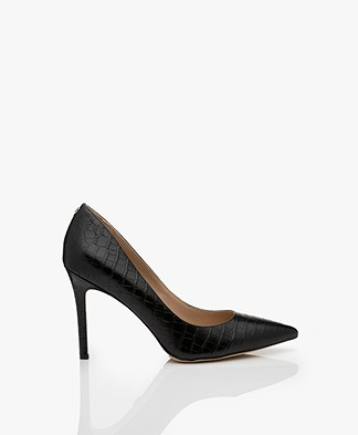 Sam Edelman Hazel Kenya Croco Pumps - Black
