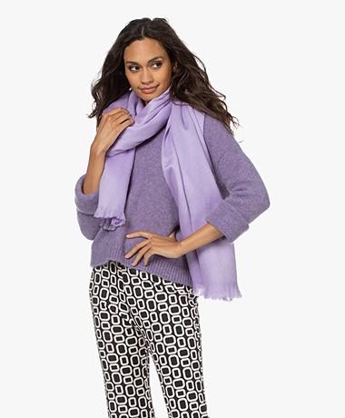 Alpaca Loca Handgemaakte Uni Sjaal in Alpaca - Lavender