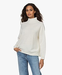 LaSalle Virgin Wool and Cashmere Turtleneck Sweater - Natural