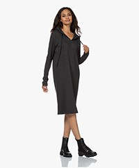 Majestic Filatures Soft Touch Hooded Sweater Dress - Anthracite Melange
