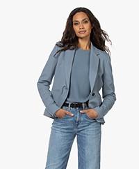 Drykorn Selsey Tailored Blazer - Dusty Blue