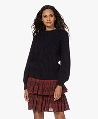 by-bar Loes Rib Knitted Wool Blend Sweater - Midnight