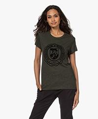 Zadig & Voltaire Walk New Blason Print T-shirt - Kaki