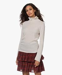 Belluna Caress Caress Cashmere Turtleneck Sweater - Sand