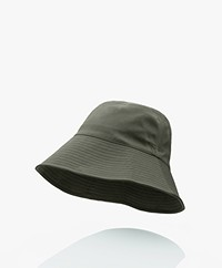 Closed Cotton Blend Twill Bucket Hat - Thyme