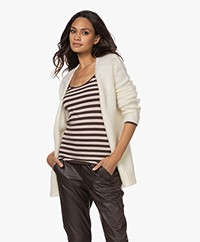 KYRA Jo Open Mohair and Wool Blend Cardigan - Almond