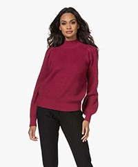 Repeat Merino Woolen Puff Sleeve Sweater - Orchid