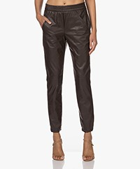 KYRA Nino Vegan Leather Pull-on Pants - Coffee Bean